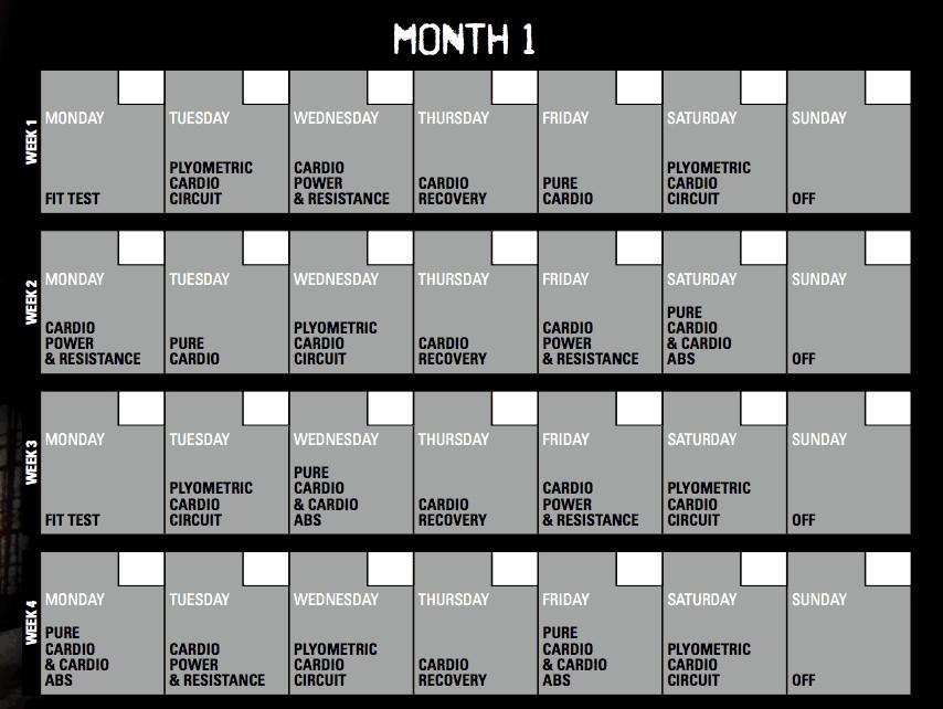 Insanity Printable Calendar Pdf Insanity Calendar 60 Day Insanity Workout Schedule