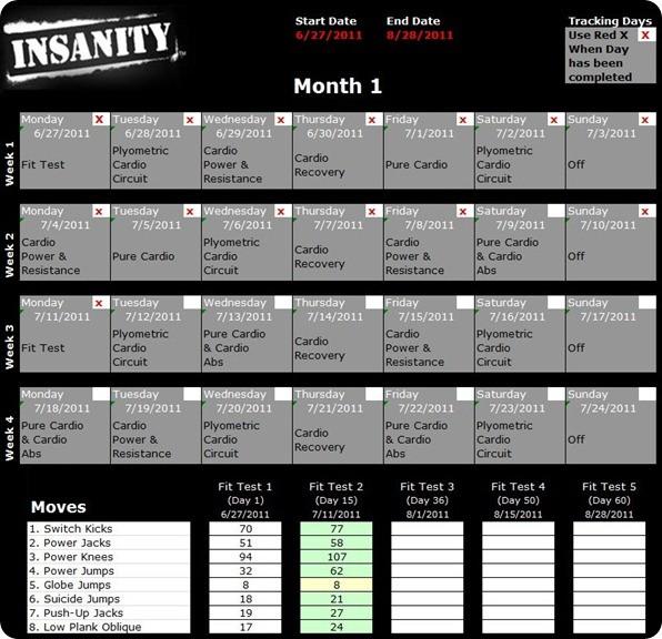 Insanity Printable Calendar Pdf Insanity Workout Schedule Pdf & Calendar Allworkoutroutines