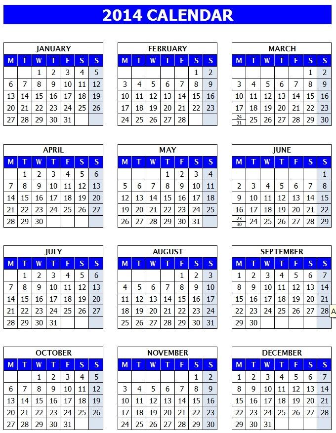 Microsoft Office Printable Calendar Microsoft Calendar Template 2014