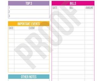 Month at A Glance Calendar Printable Items Similar to Monthly Planner Printable Month at A
