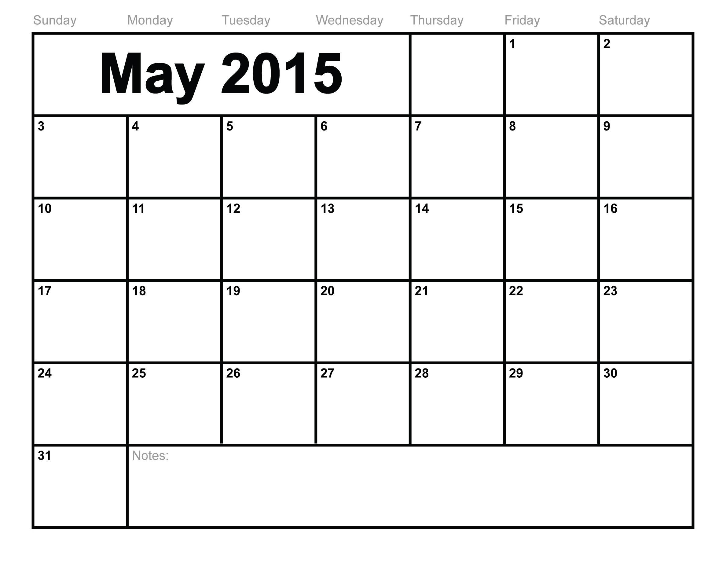 Month at A Glance Printable Blank Calendar 2018 Calendar