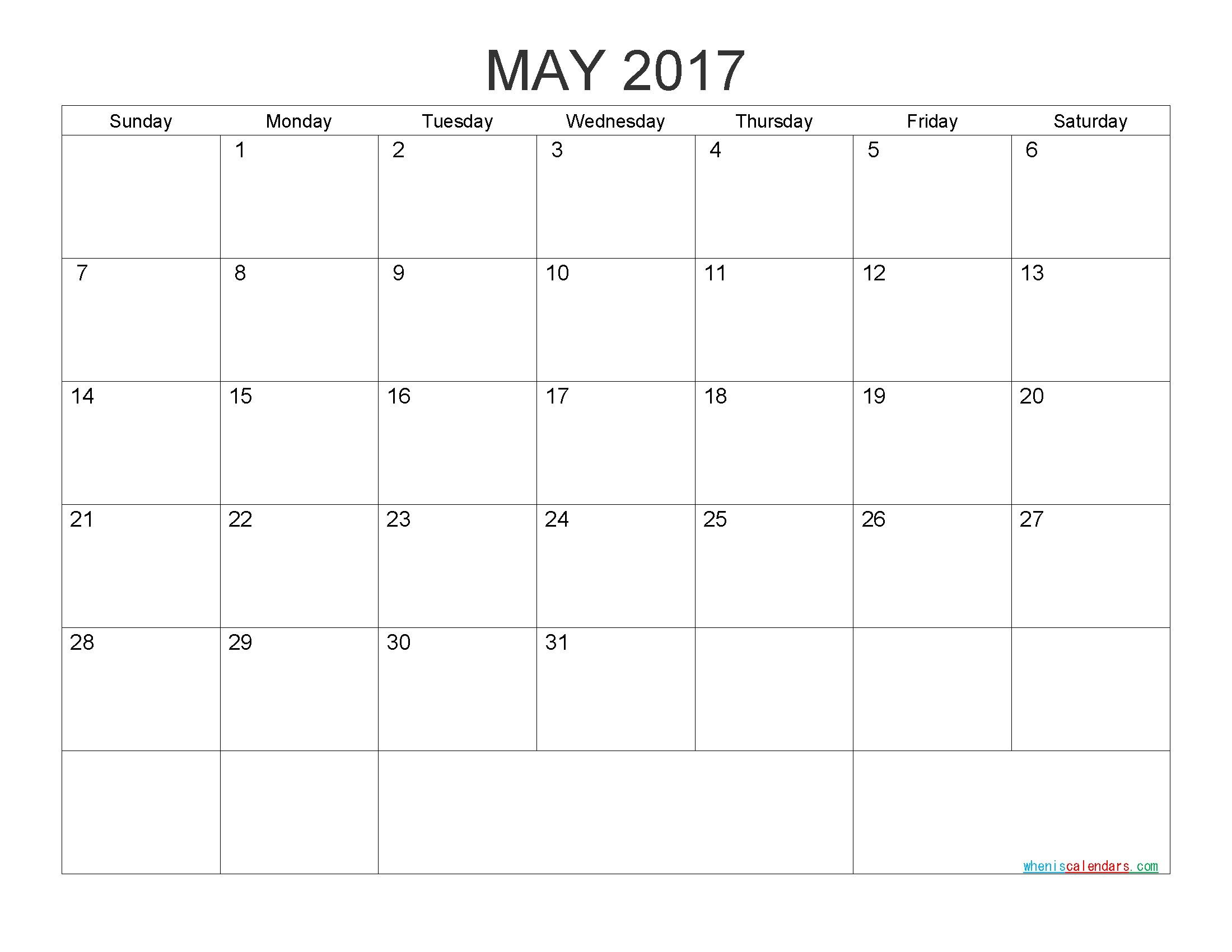 Monthly Calendar Free Printable Free Printable Calendar 2017 Monthly Calendar by Pdf