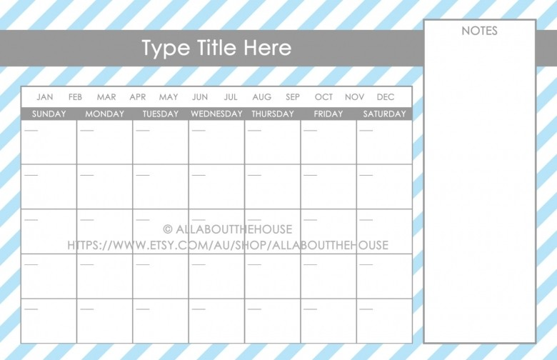 Printable 11x17 Calendar 11 X 17 Calendar Templates Free Calendar Template
