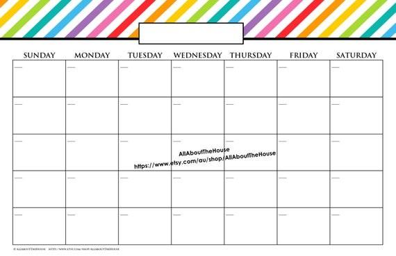 Printable 11x17 Calendar 11 X 17 In Message Board Printable Calendar Perpetual Family