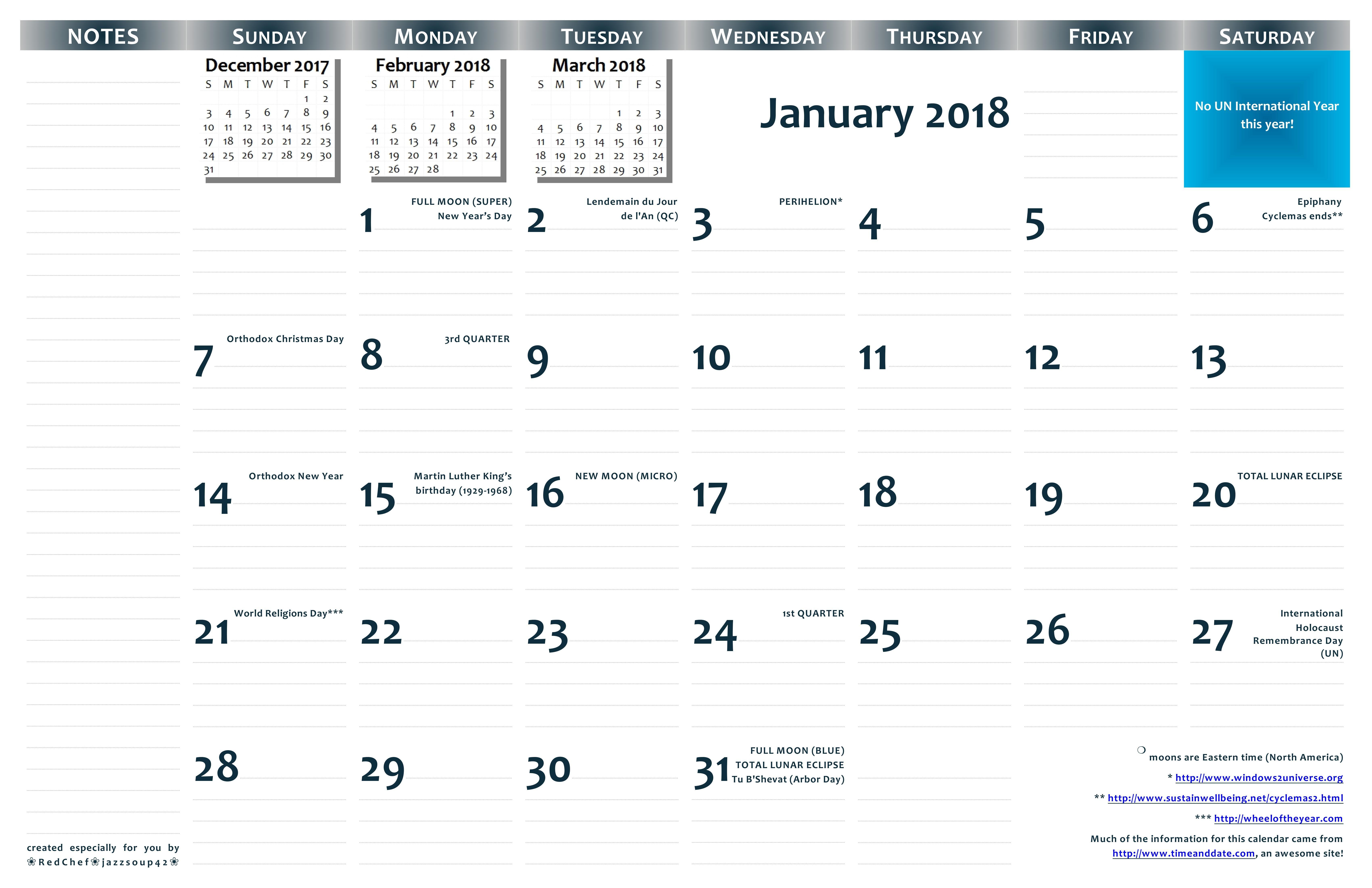 Printable 11x17 Calendar 2018 11×17 Printable Wall Calendar — Pdf format