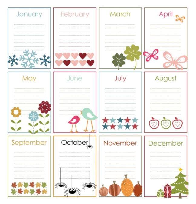 Printable Birthday Calendars Perpetual Calendar On Pinterest