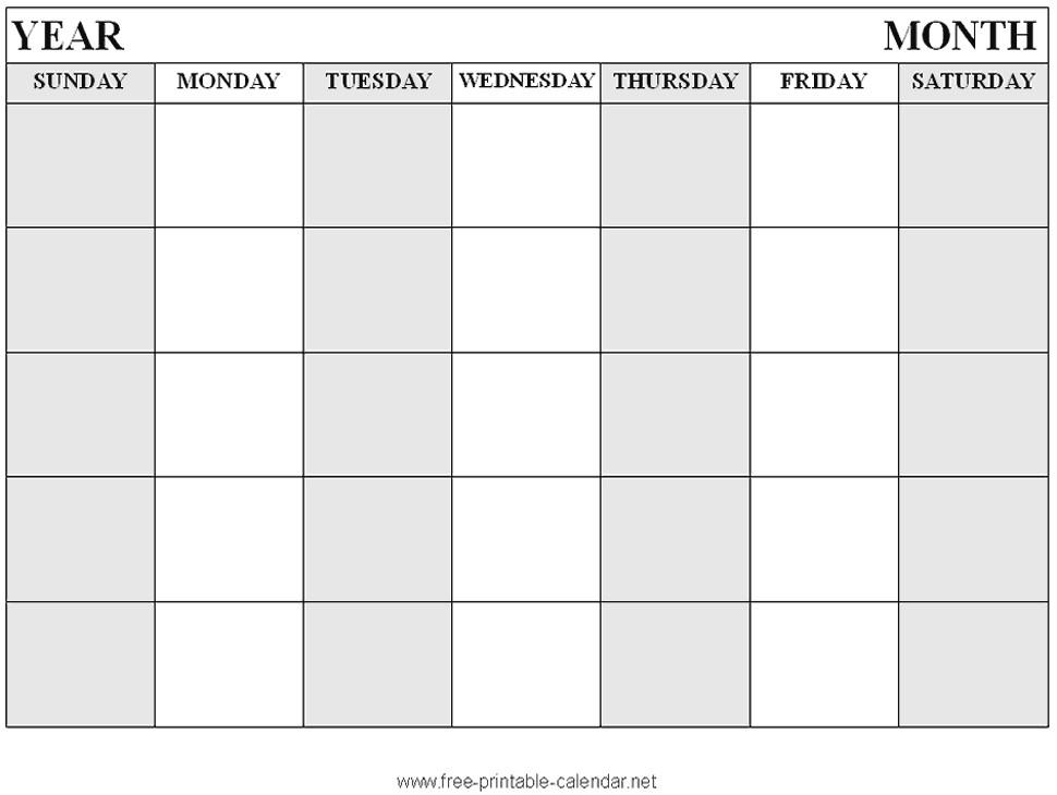 Printable Blank Calendar Pages Free Printable Blank Calendar format 3