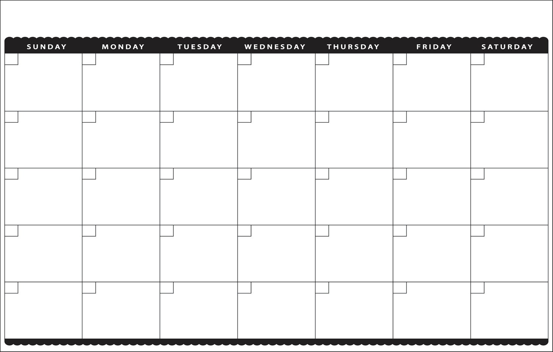 Printable Blank Monthly Calendar 7 Best Of Cute Printable Blank Calendar Cute