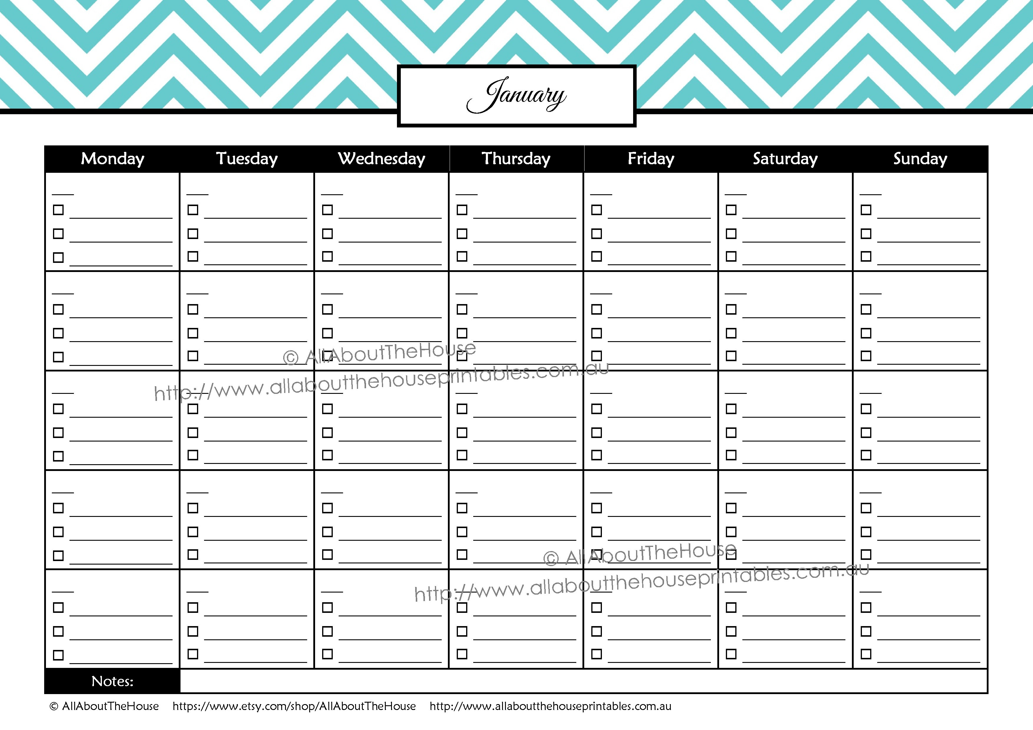 Printable Budget Calendar Printable Debt Tracker