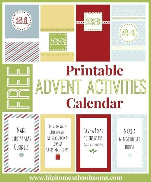 Printable Calendar Activities Free Printable Advent Activities Calendar
