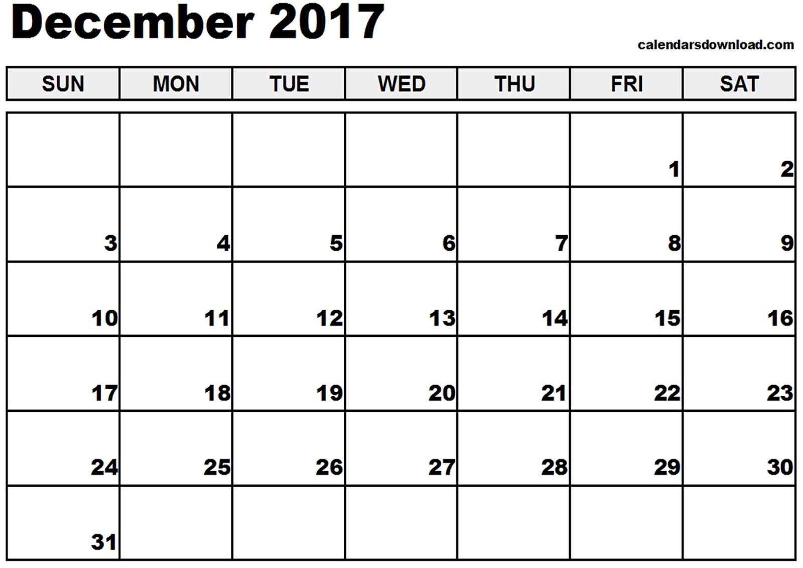 Printable Calendar for December Free Printable Calendar 2018 Free Printable Calendar December