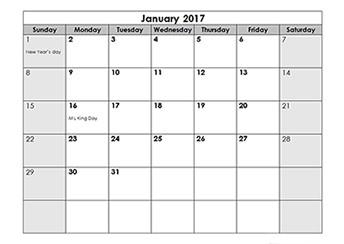 Printable Calendar Mac