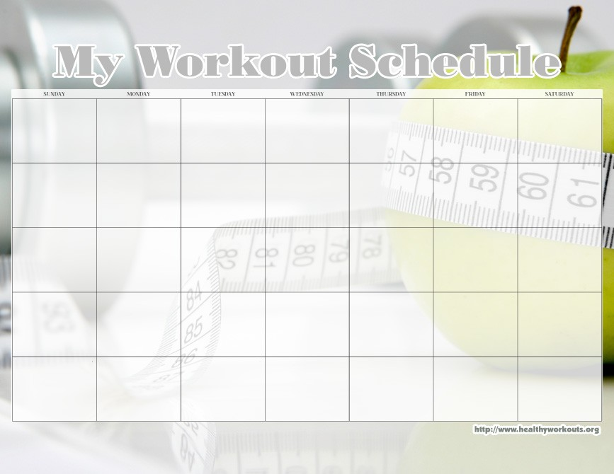 Printable Calendar Mac 31 Free Printable Exercise Calendars