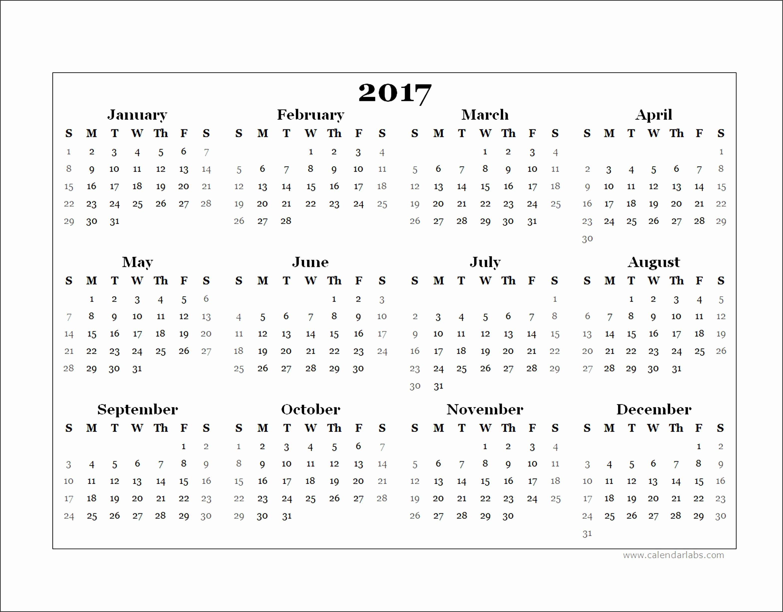 5 Free Printable Calendar Template for Mac