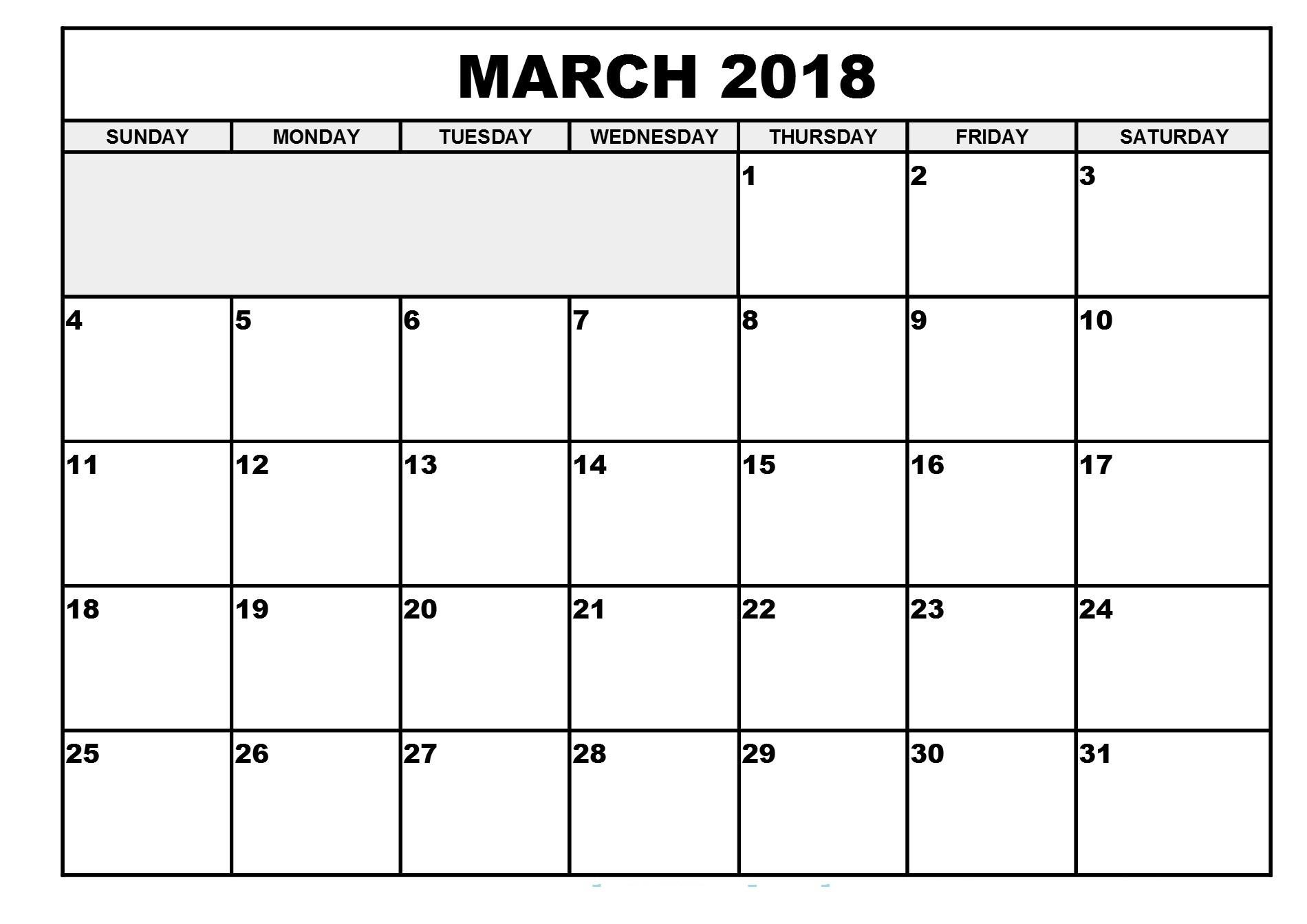 Mac 2018 Kalendar Malaysia Dengan Cetakan Templat Cetakan