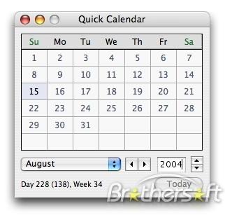 Quick Calendar for Mac free Download