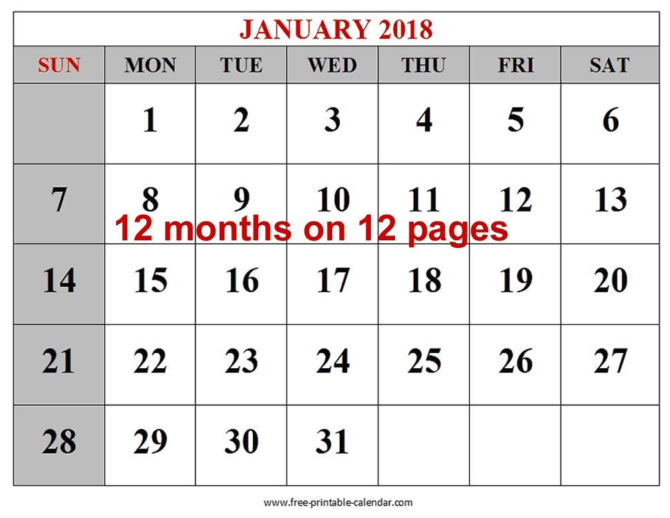 Printable Calendar Months Free 12 Month Calendar Aztec Line