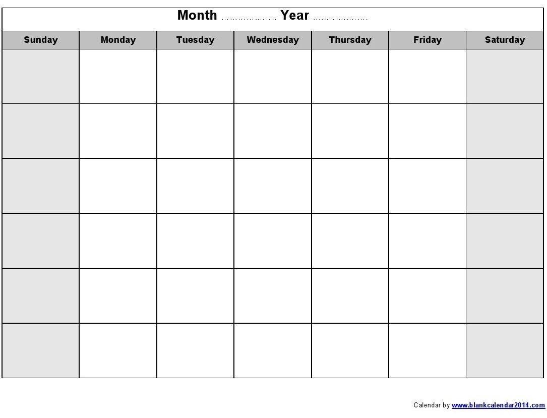 Printable Calendar Months Printable Calendars