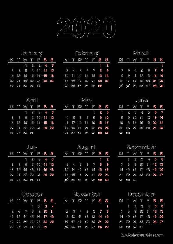 Printable Calendar Of 2020 2019 2018 Calendar Printable with Holidays List Kalender