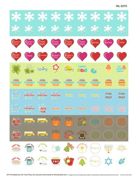 Printable Calendar Reminder Stickers organizing Calendar the Harmonized House Project