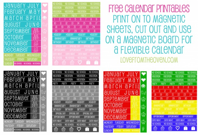 Printable Calendar Reminder Stickers Printables Love From the Oven