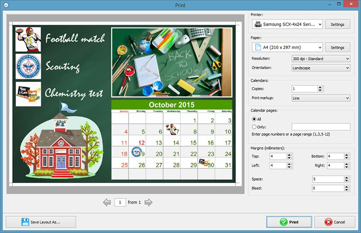 How to Create a School Calendar to Print