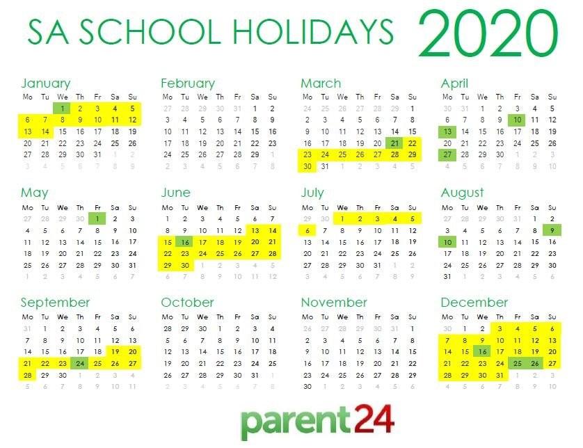 PRINT IT SA s 2020 school holiday calendar