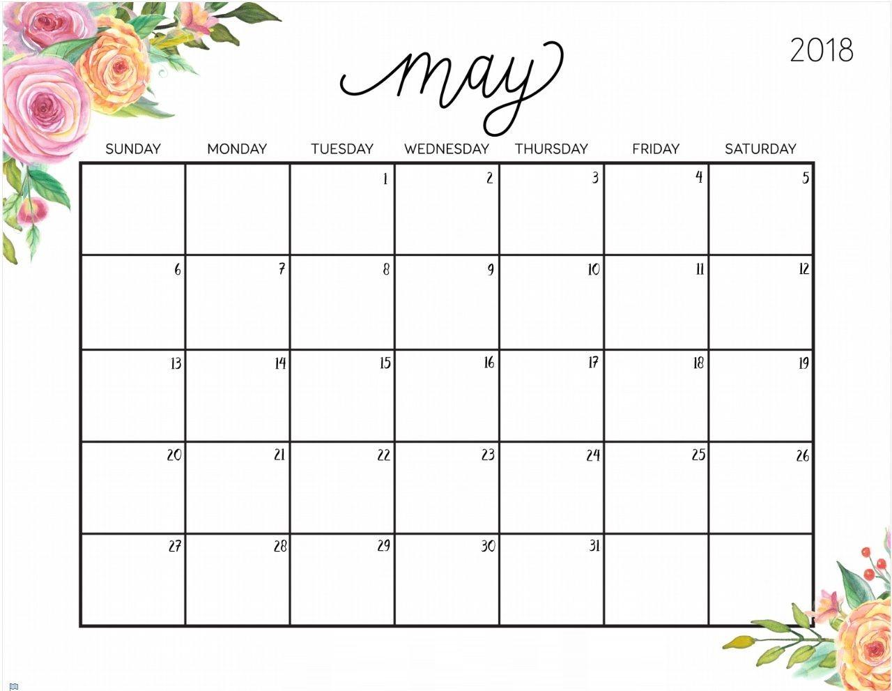 Printable May Calendar Free Printable May 2018 Desk Calendar