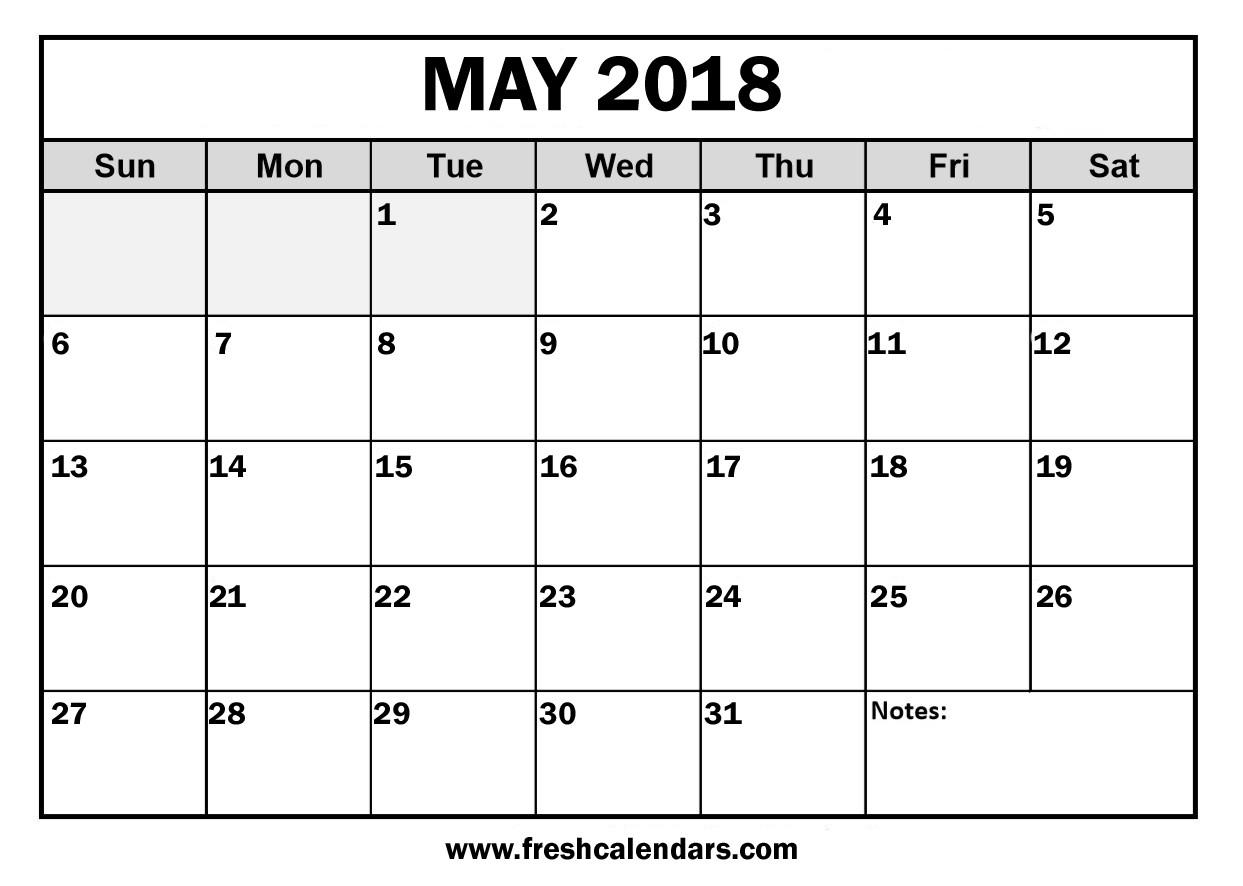 Printable May 2018 Calendar Fresh Calendars