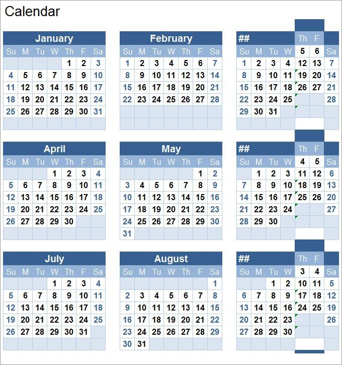 Printable Perpetual Calendar Perpetual Calendar Calendar Template