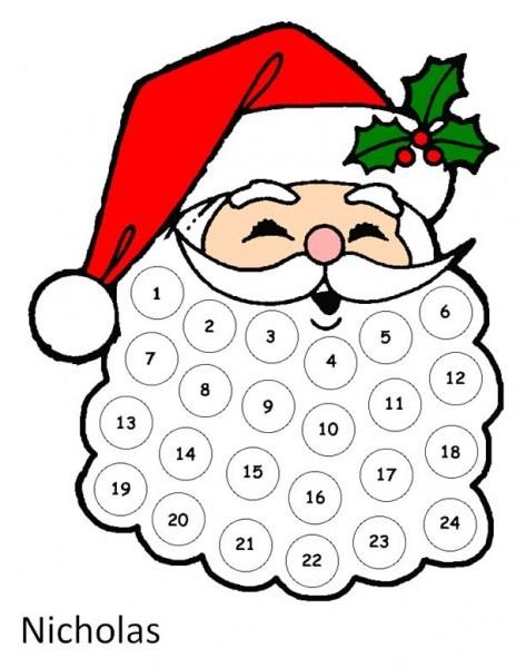 Christmas Craft Santa s Beard Advent Calendar The