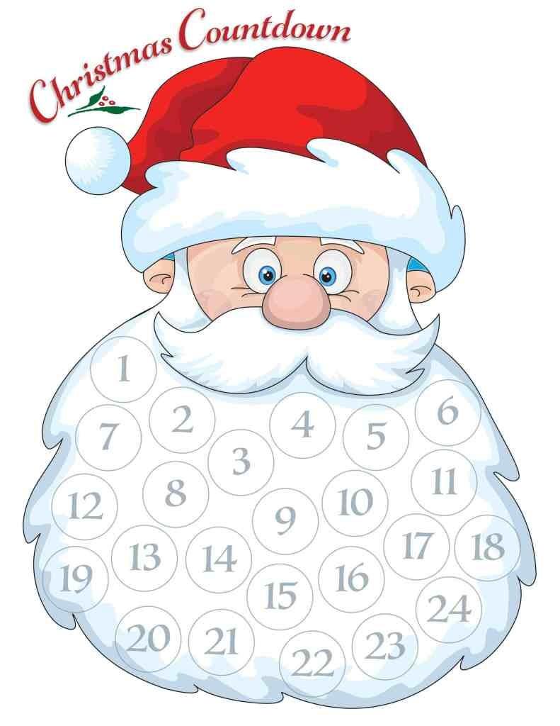 Santa Advent Calendar Free Printable