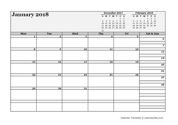 Three Month Calendar Printable 2018 Blank Three Month Calendar Free Printable Templates
