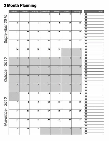 3 Month Calendar Template Word Calendar system ideas