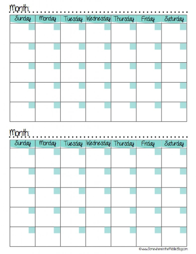 Two Month Printable Calendar Calendars 2016 Printable 2 Months Per Page