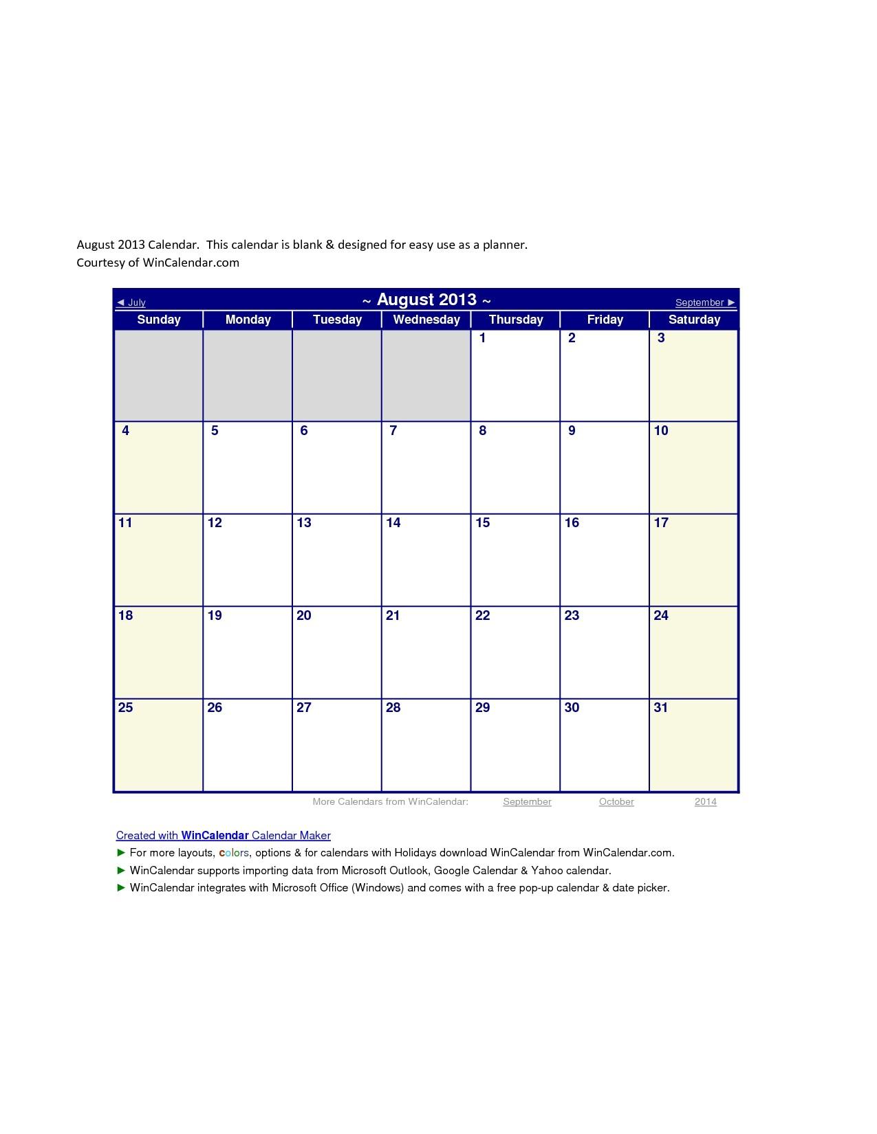 Wincalendar Printable Calendar
