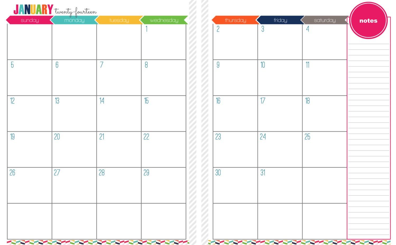 2 Page Printable Calendar