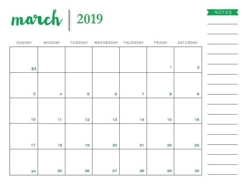2019 Editable Calendar Word Blank March 2019 Calendar Printable Template Editable Pdf