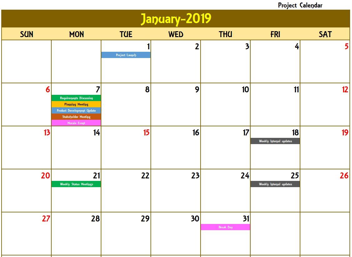 Excel Calendar Template Excel Calendar 2019 2020 or any