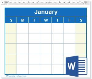 2020 Calendar Printable Microsoft Word Free 2020 Word Calendar Blank and Printable Calendar