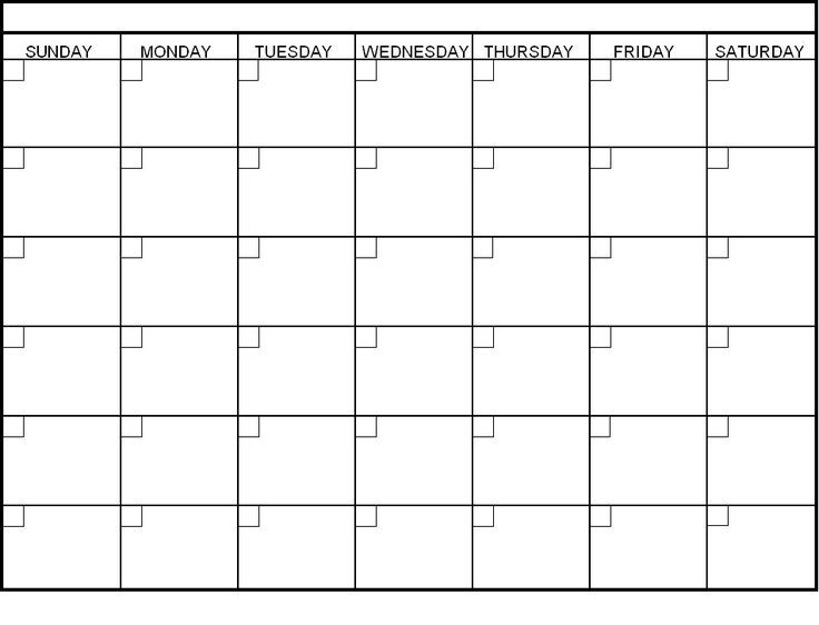 blank 30 day calendar pages Blank Calendar