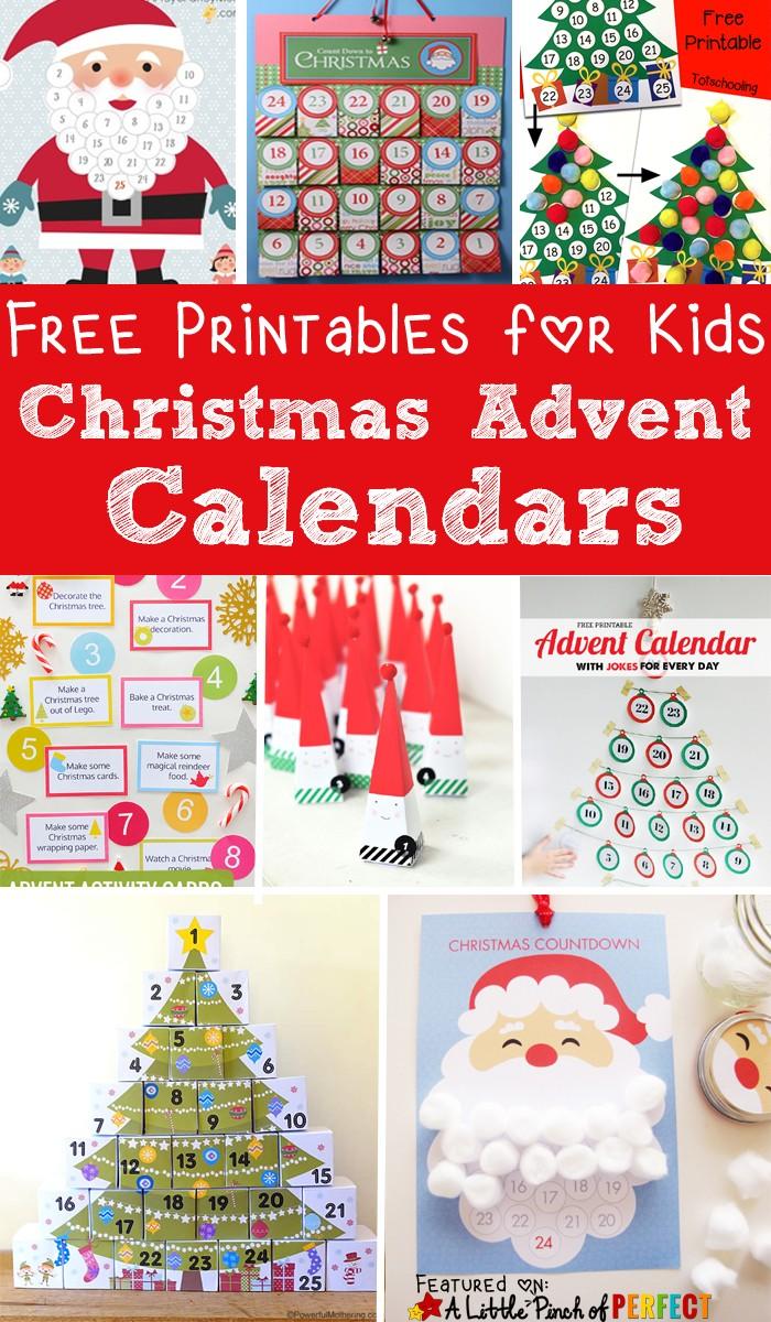 Advent Calendar Printable Free 13 Free Printable Christmas Advent Calendars for Kids