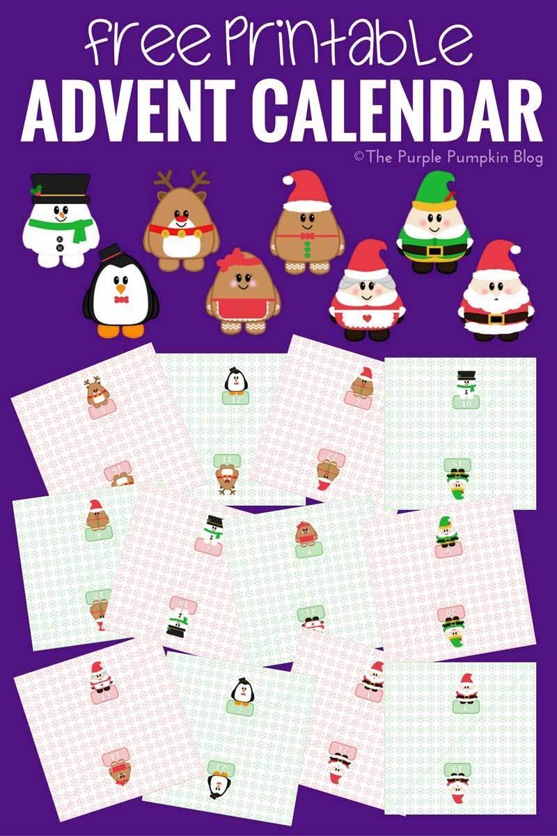 Advent Calendar Printable Free 24 Handmade Advent Calendar Ideas the Purple Pumpkin Blog