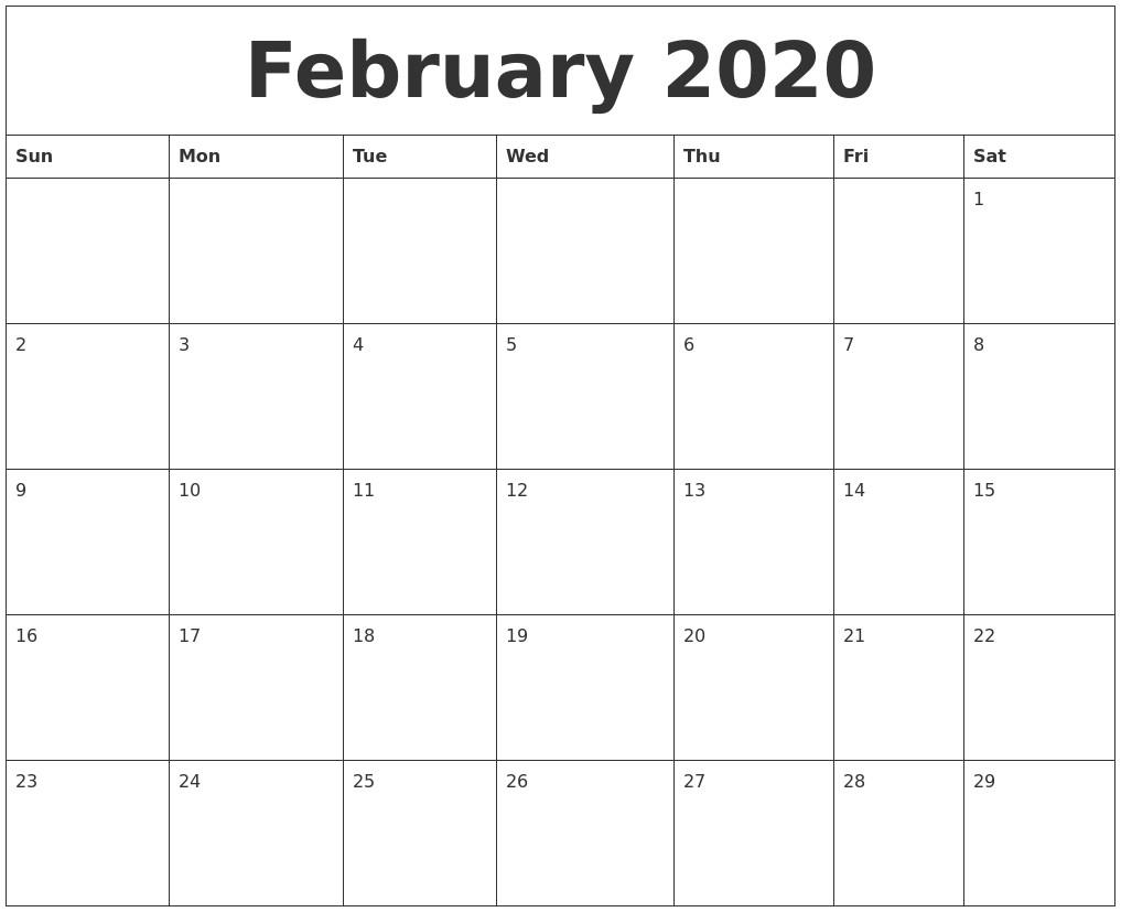 May 2020 Free Calender