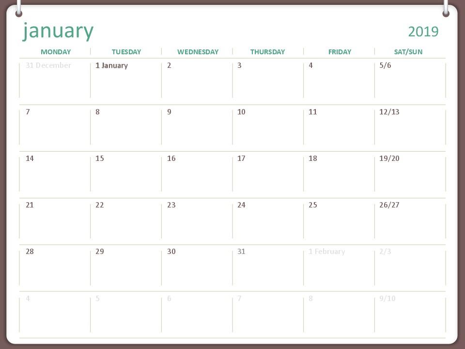 Calendar 2019 Ms Word Calendars Fice