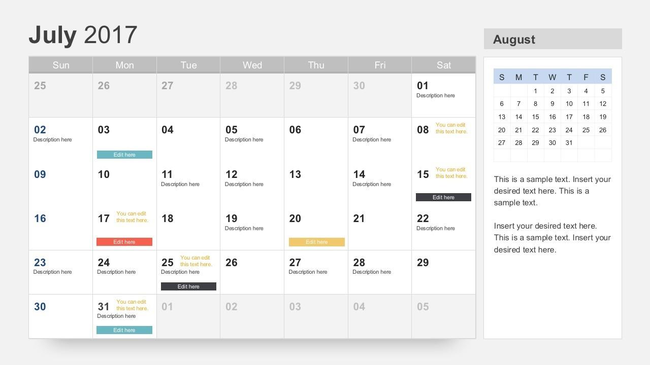 Free Calendar 2017 Template