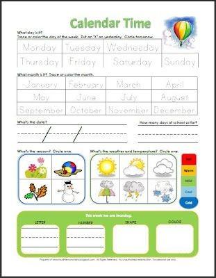 Circle Time Calendar Printable Best 25 Preschool Calendar Time Ideas On Pinterest