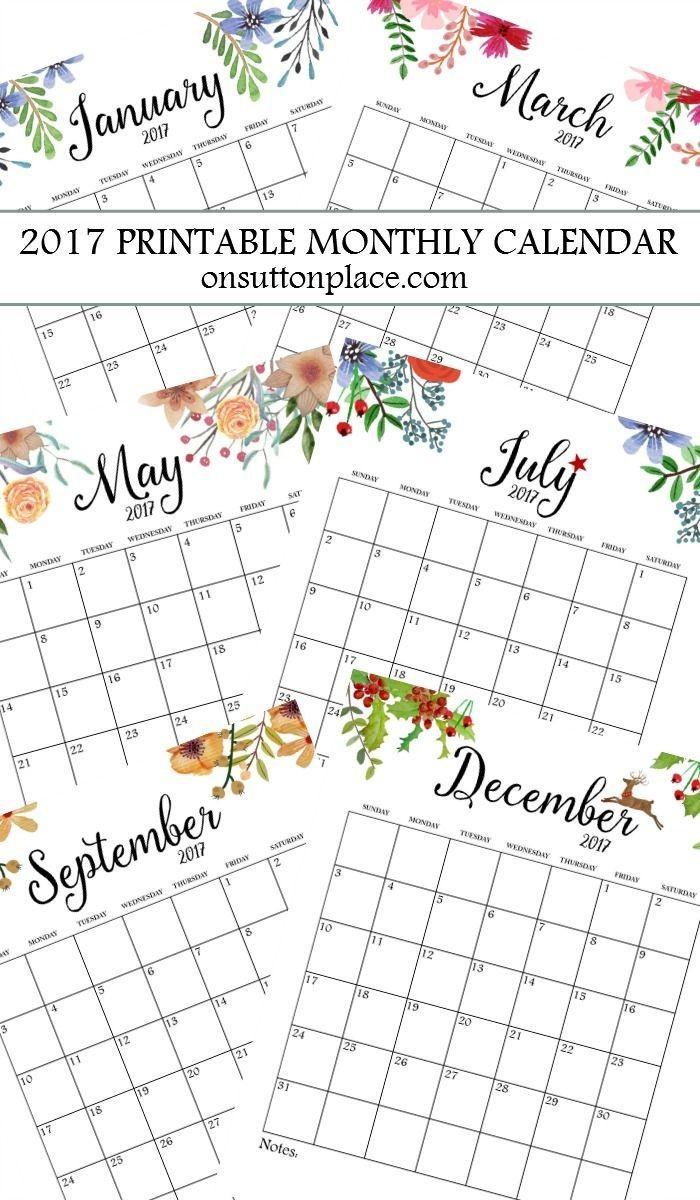 E Printable Calendar 25 Best Printable Calendars Ideas On Pinterest