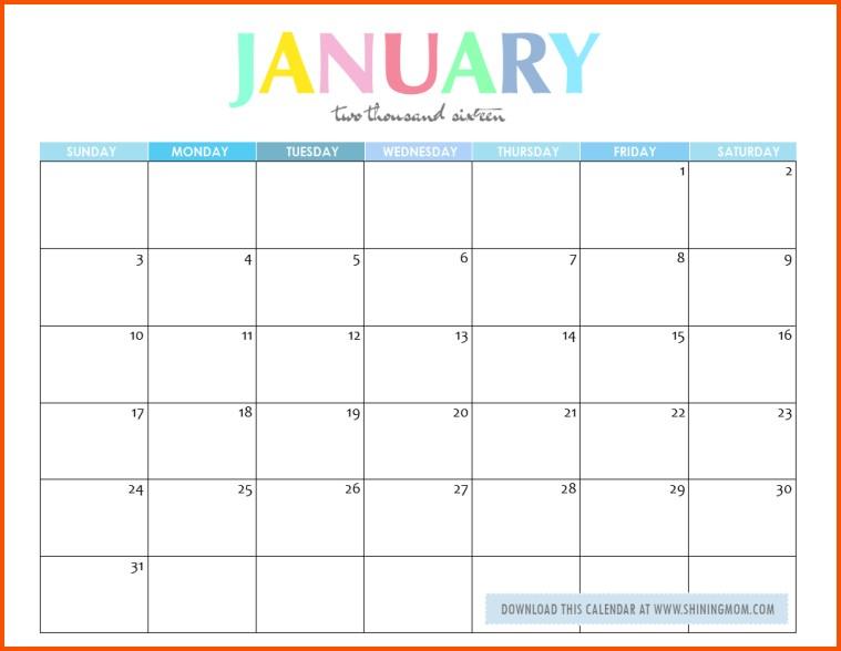 Editable Printable Calendar Editable Calendar