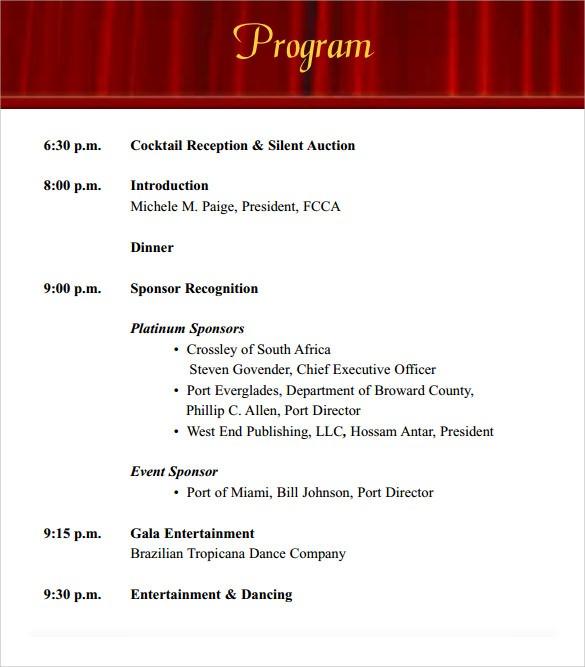 Event Program Templates 38 event Program Templates Pdf Doc